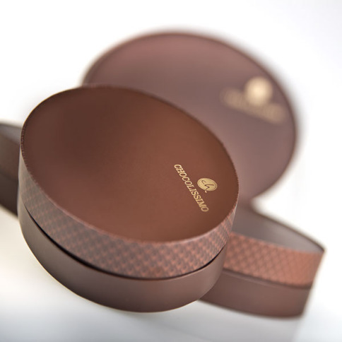 hand made pralines, oval chocolate box