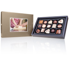 chocolate pralines, chocolate box with picture