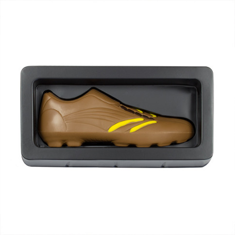 Chaussure de football en chocolat