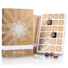 christmas advent calendar with belgian pralines