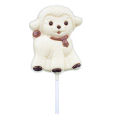 chocolate sheep lollipo, white chocolate lolllipop, easter lollipop